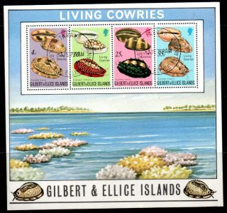 Gilbert & Ellice Is.  Sgms251 1975 Cowrie Shells M/s photo
