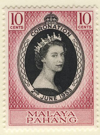 Malaya Pahang 1953 Coronation Block Of 4 photo