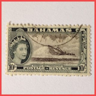 Bahamas 1954 Er Ii - 10/ - Black.  & Slate Black As Per Scan photo