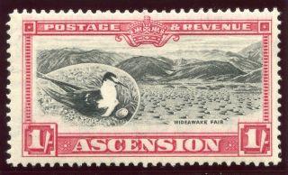 Ascension 1934 Kgv 1s Black & Carmine.  Sg 28.  Sc 30. photo