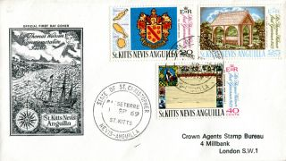 St Kitts 1 September 1969 Sir Thomas Warner First Governor First Day Cover photo