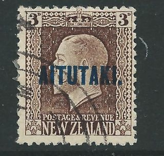 Aitutaki Sg16 1918 3d Chocolate P14x13½ Fine photo