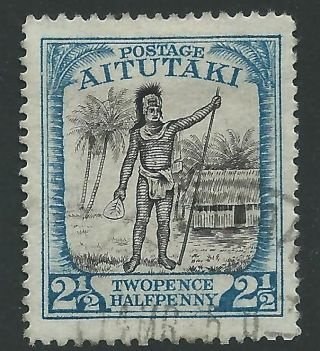 Aitutaki Sg32 1927 2½d Black & Dull Blue Fine photo