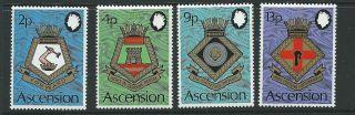 Ascension Sg166/9 1973 Naval Crests photo