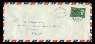 British Solomon Is.  1965 Airmail. . .  Auki. . .  3d Club Solo Franking photo