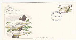 (22368) Fdc St Helena - Mushroom - Polyporus Induratus 1983 photo