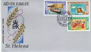 St Helena 1977 Silver Jubilee Stamp First Day Cover Ref:cw549 photo