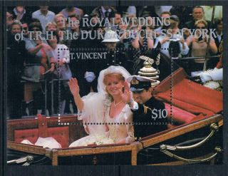 St Vincent 1986 Royal Wedding Ms1013 photo