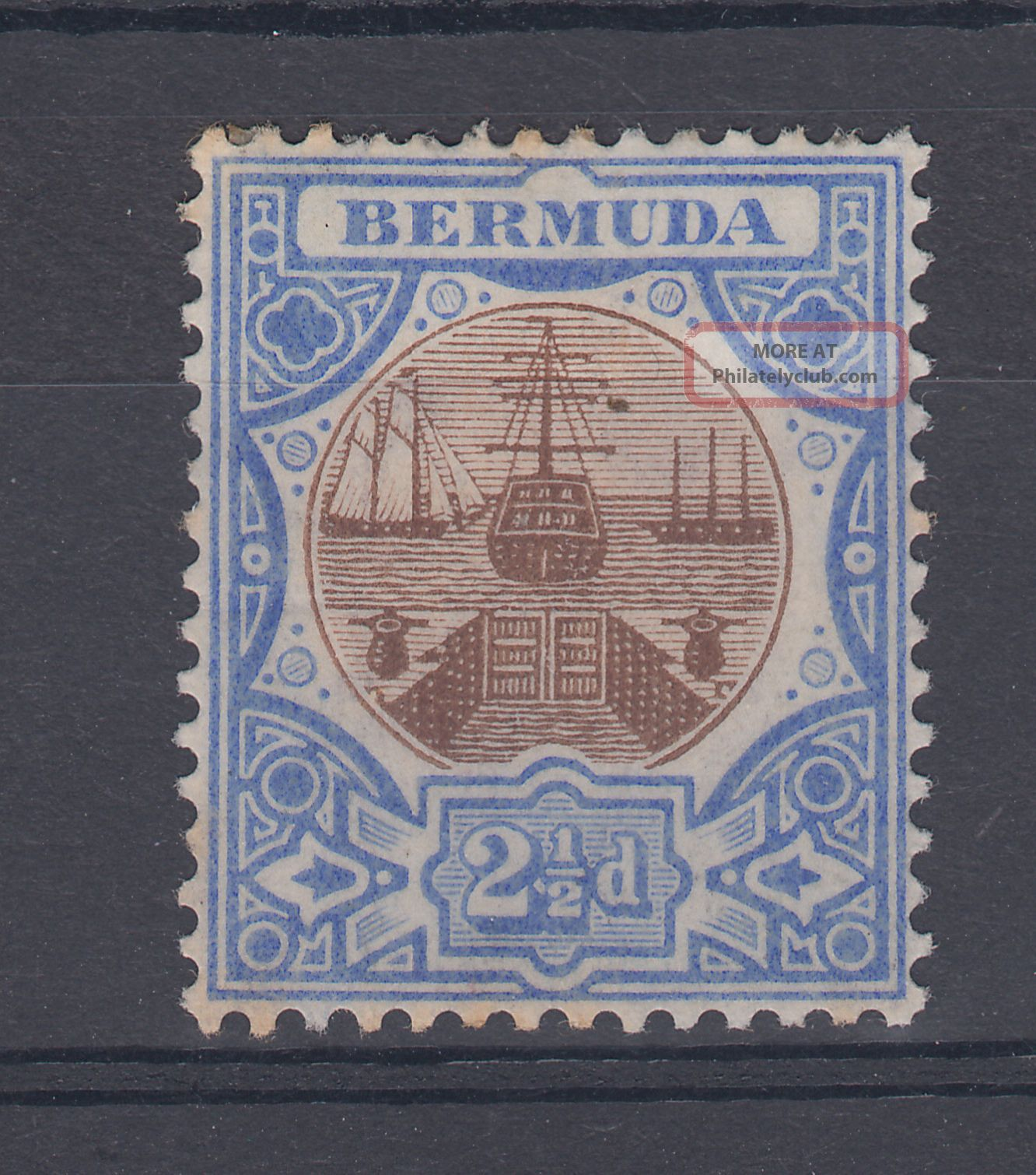 1906 Bermuda M/m Dry Dock 2.  5d Stamp (sg 40) British Colonies & Territories photo
