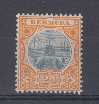1907 Bermuda M/m Dry Dock 2d Stamp (sg 39) photo