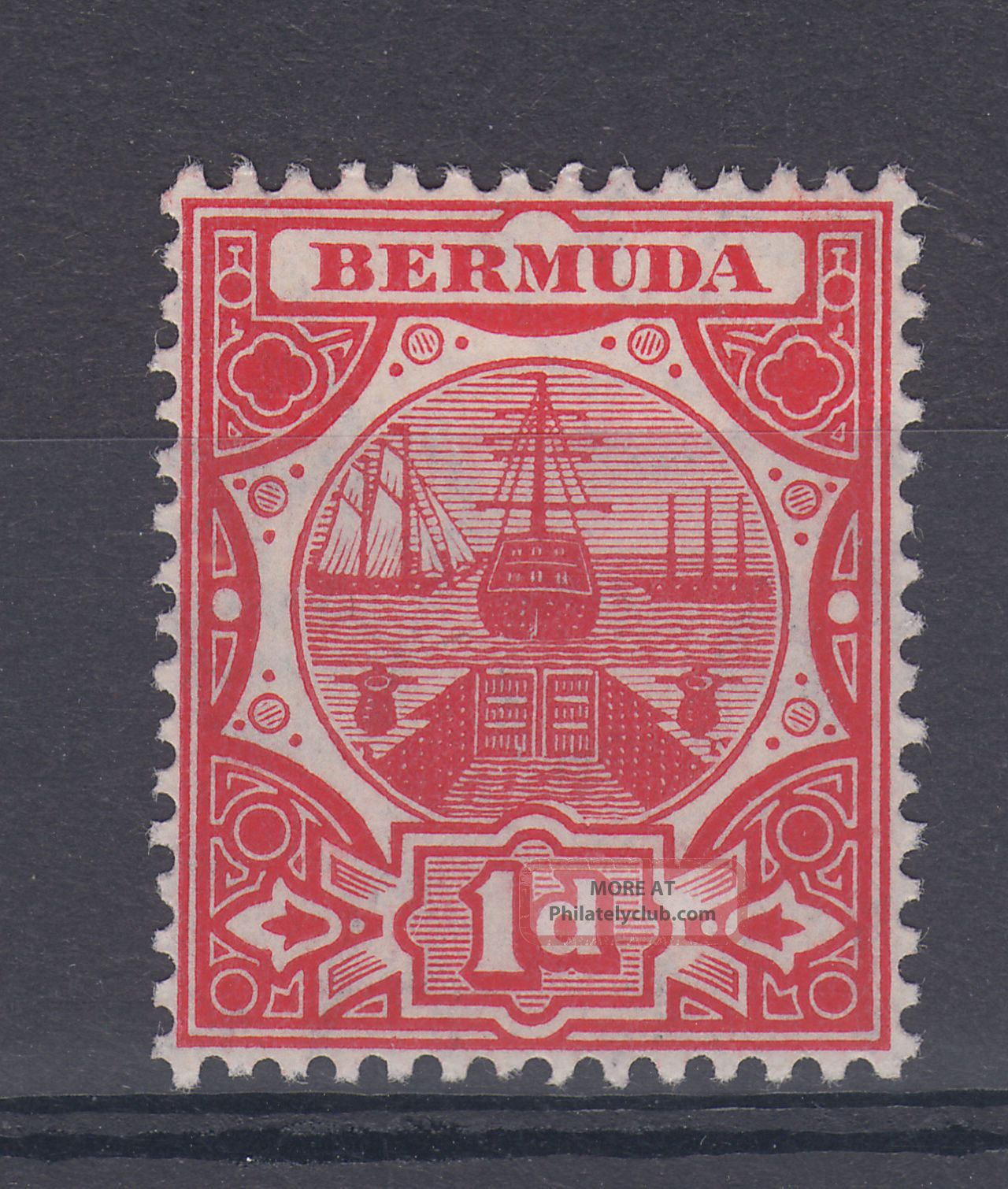 1908 Bermuda M/m Dry Dock 1d Stamp (sg 38) British Colonies & Territories photo