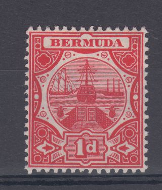 1908 Bermuda M/m Dry Dock 1d Stamp (sg 38) photo
