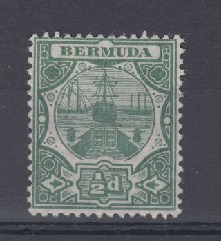 1909 Bermuda M/m Dry Dock 0.  5d Stamp (sg 36) photo