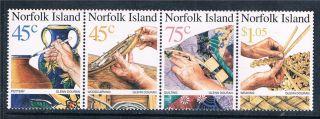 Norfolk Is 1999 Handicrafts Sg 708/11 photo