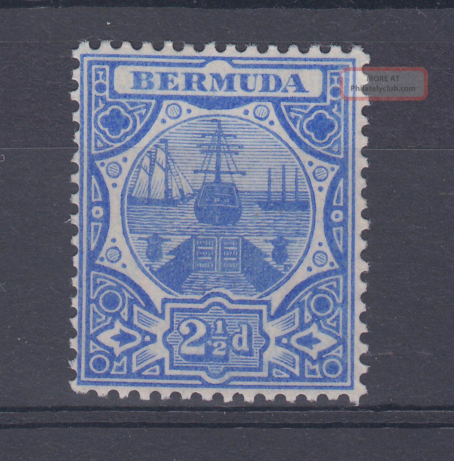 1910 Bermuda M/m Dry Dock 2.  5d Stamp (sg 41) British Colonies & Territories photo