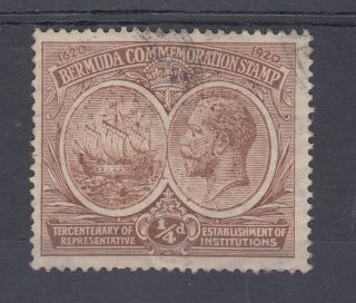 1920 Bermuda 0.  25d Tercentenary Stamp (sg 59) photo