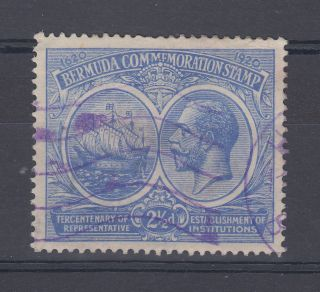 1920 Bermuda 2.  5d Tercentenary Stamp (sg 66) photo