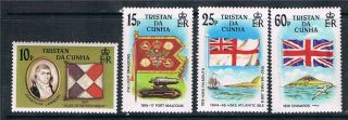 Tristan Da Cunha 1985 Flags Sg395/8 photo