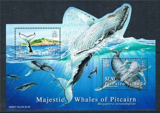 Pitcairn Is 2006 Majestic Whales Sg Ms 723 photo