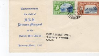 Trinidad & Tobago.  Postally 1955.  To London. photo