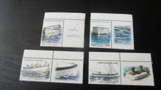 Norfolk Islands 2001 Sg 768 - 771 Local Boats photo