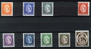 St Vincent 1964 - 65 Definitives Sg212/220 photo