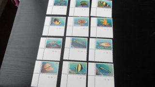Norfolk Island 1998 Sg 666 - 677 Reef Fishes. photo