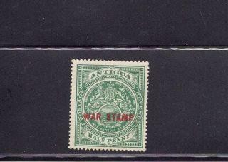 Antigua 1917 Scott Mr2 Hinged photo