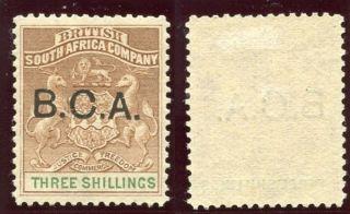 Nyasaland 1891 Qv 3s Brown & Green Mlh.  Sg 10.  Sc 10. photo