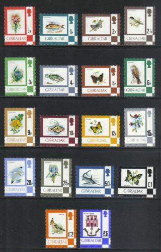 Gibraltar 1977 - 80 Flora & Fauna - - Attractive Nature Topical (340 - 55a) photo