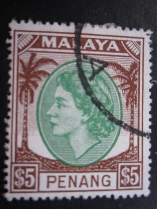 Malaya/penang - Scott 55 - - Cat Val $15.  00 photo