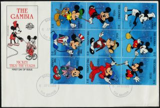 Gambia 814a - I,  815 Fdc ' S Disney,  Mickey Mouse Birthday photo