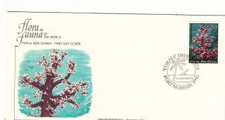 (22373) Fdc Papua Guinea - Flowers Dendronepthya photo
