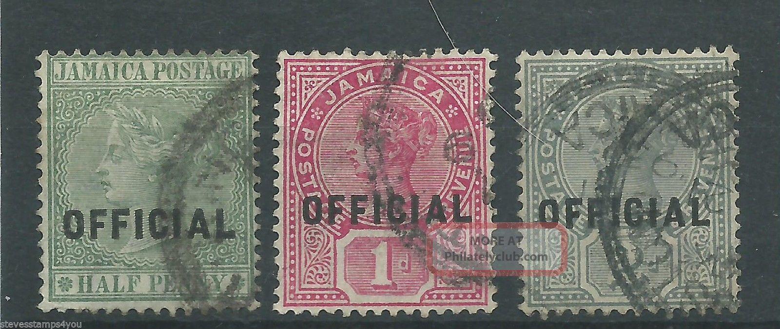Jamaica - 1890 To 1891 - Sgo3 Sgo4 & Sgo5 - Cv £ 3.  75 - British Colonies & Territories photo