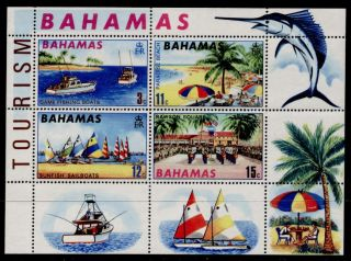 Bahamas 293a Tourism,  Game Fishing,  Sail Boats,  Military Band photo