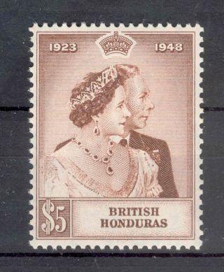 British Honduras Kgvi Rsw $5 Brown Sg165 photo