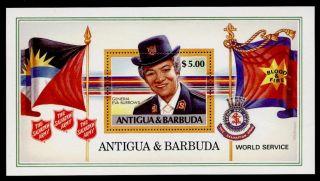 Antigua 1091 Salvation Army,  Eva Burrows,  Flags photo