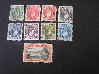 Nigeria,  Scott 53 - 56 (4) +58+60 - 62 (3) +64,  Total 9,  1939 - 51 Kgv1 Issue photo