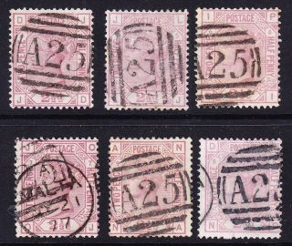 Gb In Malta; Sg141/sgz38 2.  5d Rosy - Mauve Pls 4 - 9 Incl Fine A25 Cancels photo