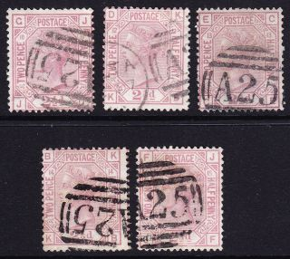 Gb In Malta; Sg141/sgz38 2.  5d Rosy - Mauve Pl 10 & 12/16 Incl; Fair/fine photo