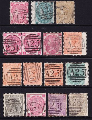 Gb Sp Issues; 15 All In Malta; Mixed,  But With Scarce; Z69 & Z41 photo