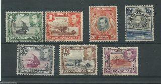 Kenya Uganda Tanganyika - 1938 To 1954 - Sg132 Sg134 Sg139b Sg141b Sg144e Sg145 photo