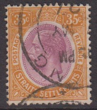 Straits Settlements Kgv 35c Dull Purple & Orange Sg236a Stamp 1922 George V photo