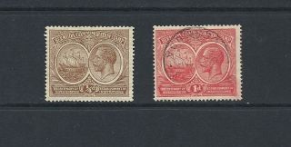 1920 King George V Sg59 Hinged,  And Sg65.  Tercentenary Bermuda photo