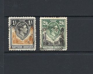 1938 King George Vi Sg40 And Sg41 Higher Val Pair Northern Rhodesia photo