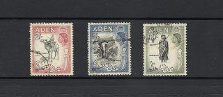 1953 Queen Elizabeth Ii Sg66,  Sg68 And Sg70 Higher Values Aden photo