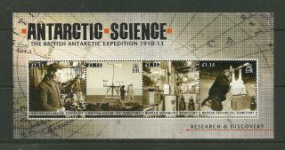 2011 British Antarctic Territory Centenary Scott ' S Expedition 1010 - 1913 M/s photo