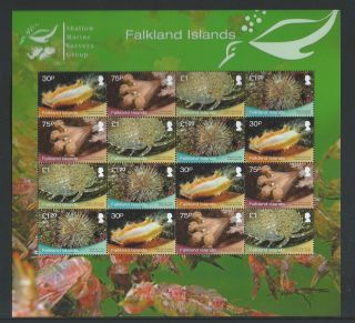 2013 Falklands Islands Shallow Marine Surveys Group Large Souvenir Sheetlet photo