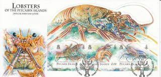 Pitcairn Islands 2013 Fdc Lobsters 3v Cover Easter Island Spiny Lobster Marine photo