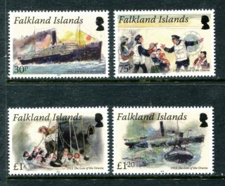 Falkland Islands 1062 - 1065, ,  2012 Ship,  Loss Of The Oravia.  X16079 photo